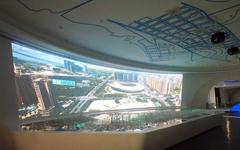 厉害了!投影让城市规划展馆更炫酷