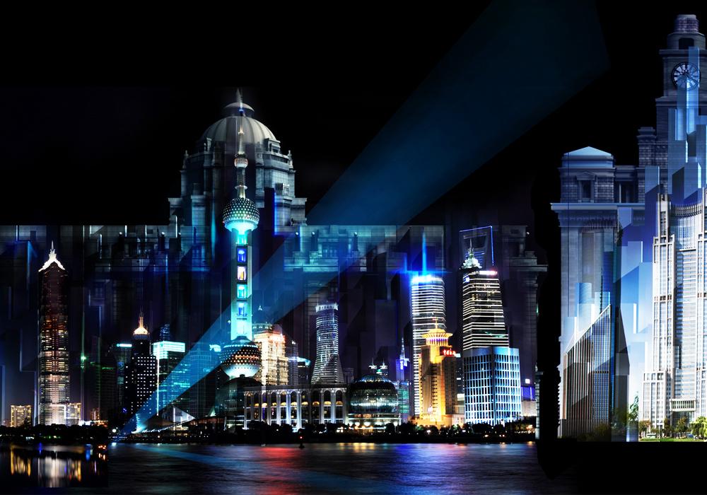 上海外滩3d投影灯光秀创意设计图片